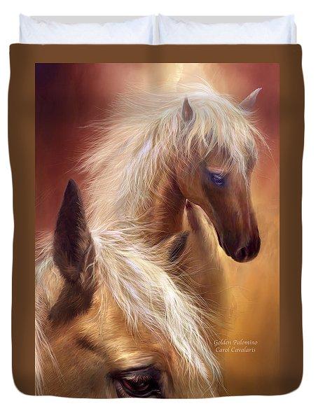 Golden Palomino Duvet Cover by Carol Cavalaris