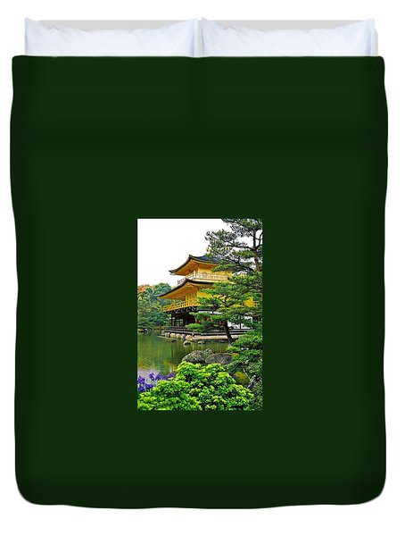 Golden Pavilion - Kyoto Duvet Cover by Juergen Weiss