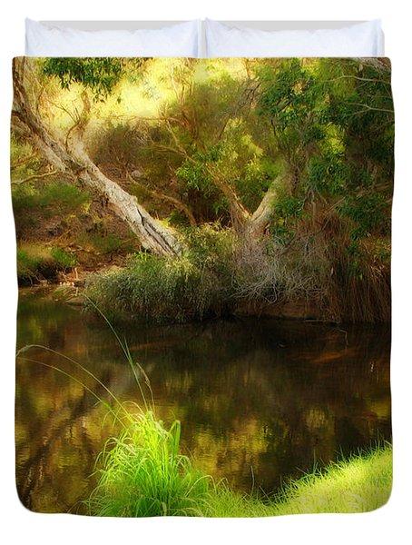 Golden Pond Duvet Cover by Michelle Wrighton