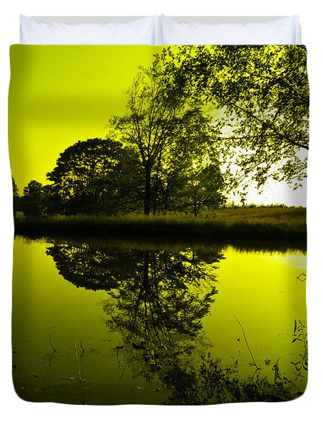 Golden Pond Duvet Cover by Nick Kirby