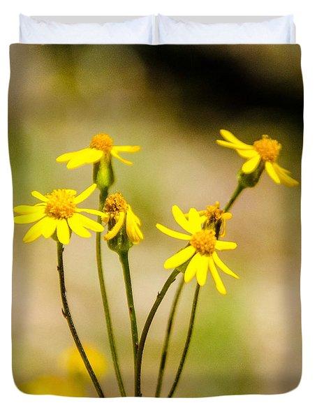 Golden Ragwort Duvet Cover
