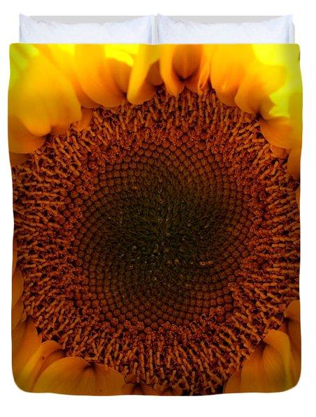 Golden Ratio Sunflower Duvet Cover by Kerri Mortenson