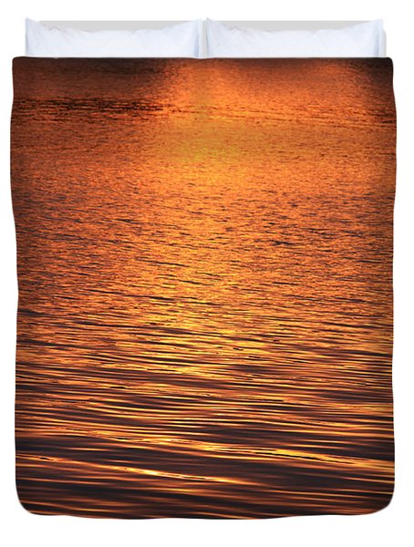 Golden Reflections Duvet Cover by Chris Thomas