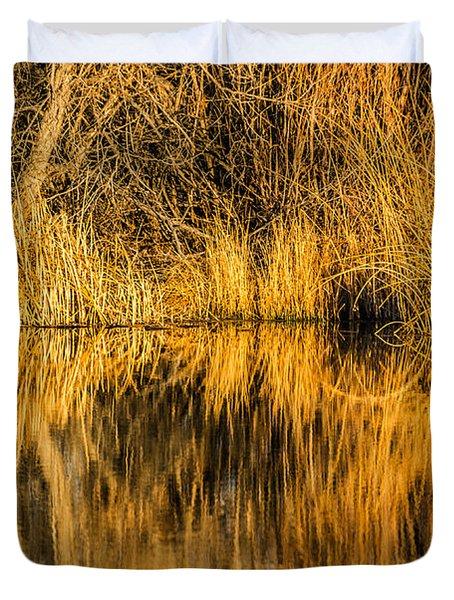 Golden Reflections Duvet Cover
