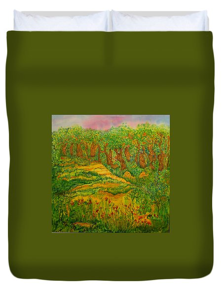 Duvet Cover featuring the painting Everyday-a New Beginning by Susan D Moody