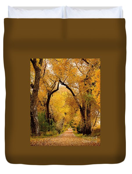 Golden Roads Duvet Cover