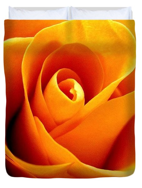 Golden Rose Duvet Cover