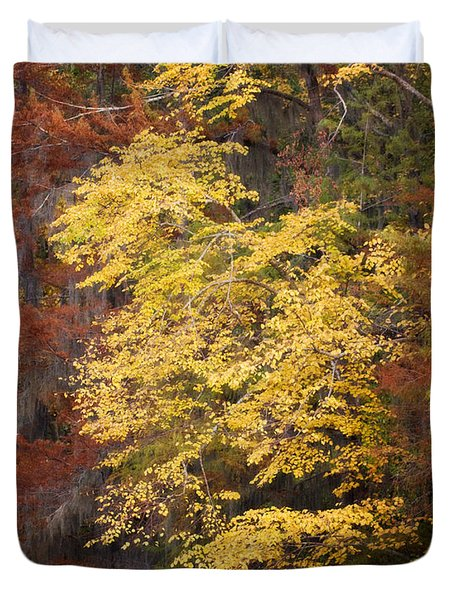 Duvet Cover featuring the photograph Golden Rust by Lana Trussell
