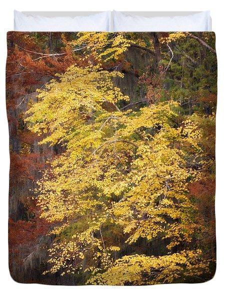 Golden Rust Duvet Cover by Lana Trussell