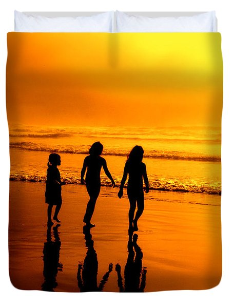 Golden Sands  Duvet Cover