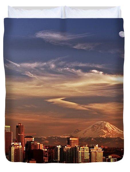 Golden Seattle Duvet Cover