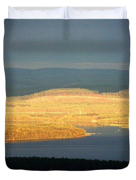 Golden Shores Duvet Cover