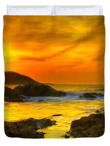 Golden Sky Duvet Cover