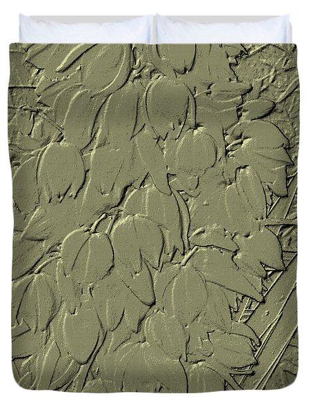 Golden Stone   Flowers Duvet Cover