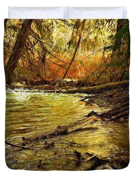 Golden Stream Duvet Cover