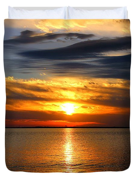 Golden Sun Duvet Cover by Faith Williams