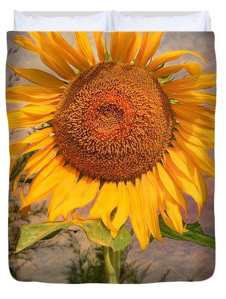 Golden Sunflower Duvet Cover