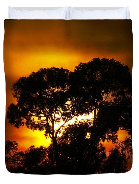 Golden Sunset... Duvet Cover