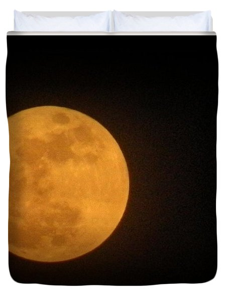 Golden Super Moon Duvet Cover