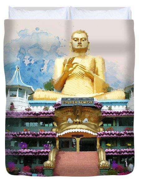 Golden Temple Of Dambulla Duvet Cover