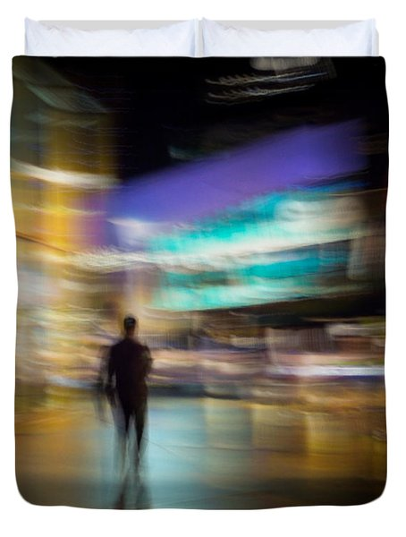 Duvet Cover featuring the photograph Golden Temptations by Alex Lapidus