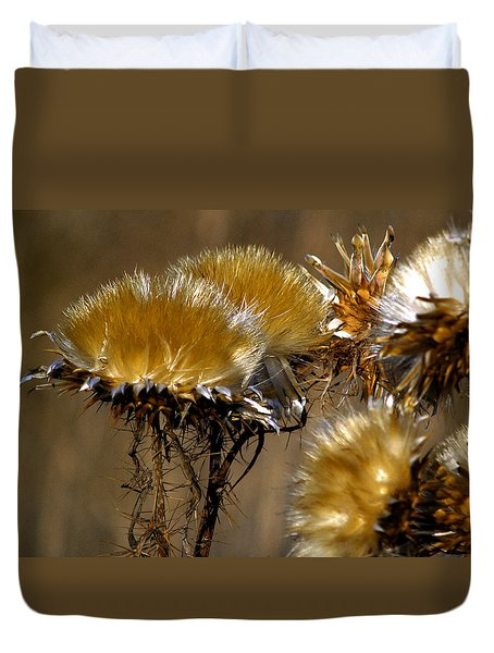 Golden Thistle Duvet Cover by Bill Gallagher