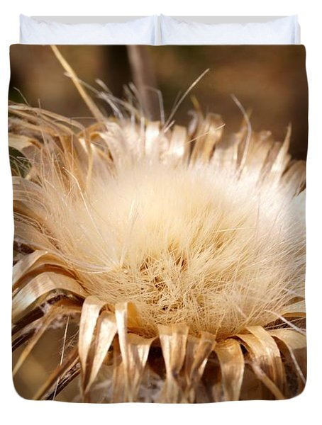 Golden Thistle Duvet Cover