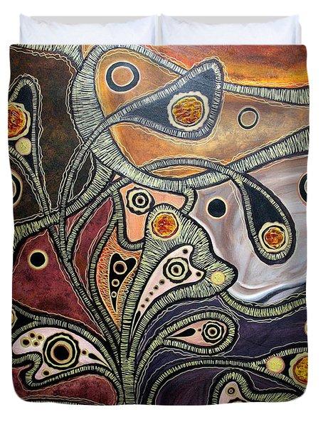 Golden Thought Duvet Cover by Jolanta Anna Karolska