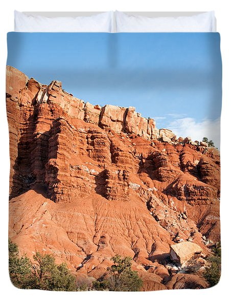 Golden Throne Capitol Reef National Park Duvet Cover