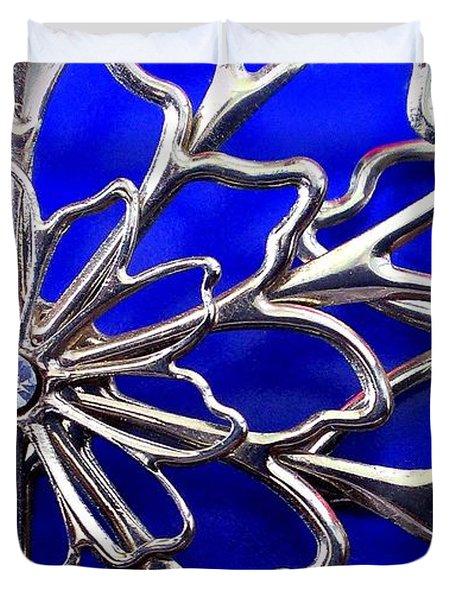 Golden Web Duvet Cover by Catherine Ratliff