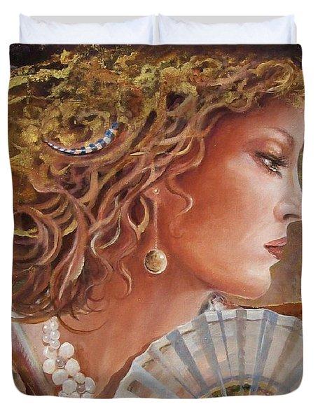 Golden Wood Duvet Cover
