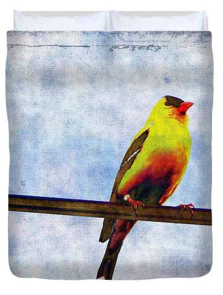 Goldfinch Duvet Cover by Cassie Peters