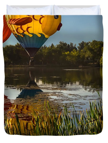 Goldfish Reflection Duvet Cover
