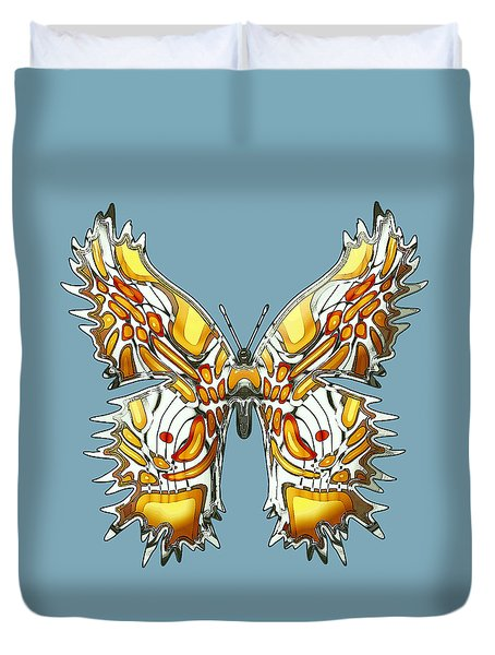 Goldfly Butterfly Duvet Cover