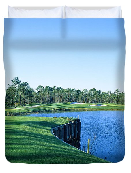 Golf Course At The Lakeside, Regatta Duvet Cover