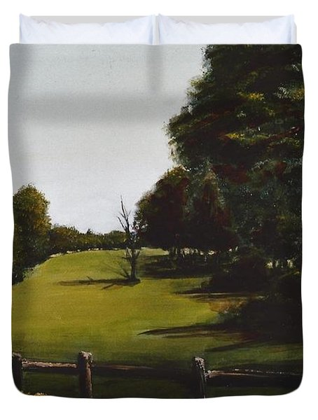 Golf Course In Duxbury Ma Duvet Cover by Diane Strain