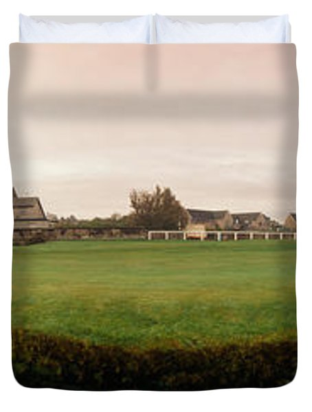 Golf Course With Buildings Duvet Cover