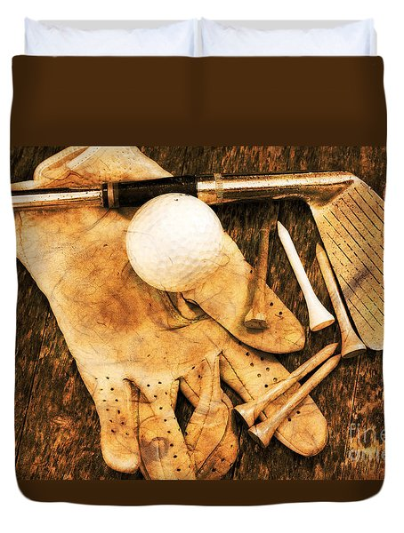 Duvet Cover featuring the photograph Golf Memorabilia by Charline Xia