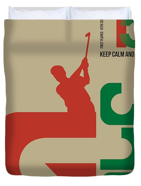 Golf Poster Duvet Cover