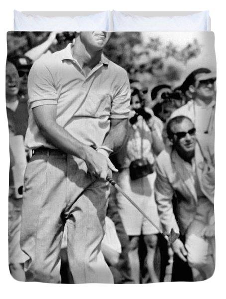 Golfer Arnold Palmer Duvet Cover