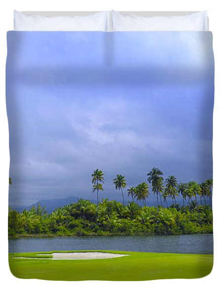 Golfer's Paradise Duvet Cover by Stephen Anderson