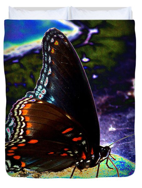 Gona-fly-butterfly Duvet Cover