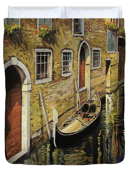 Gondola A Venezia Duvet Cover