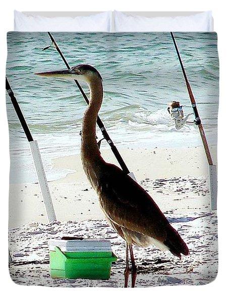 Gone Fishing Duvet Cover by Debra Forand