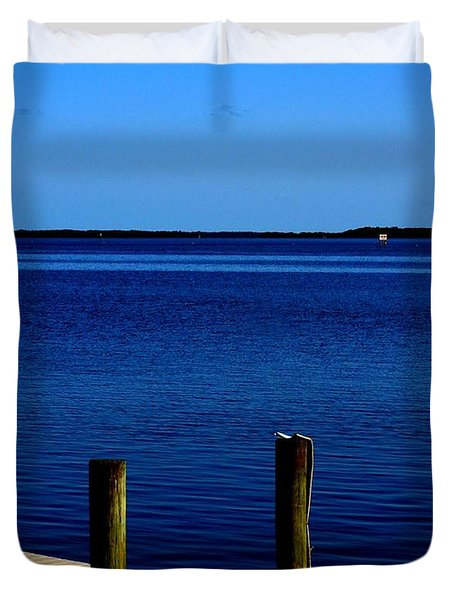 Duvet Cover featuring the photograph Gone Fishing  by Irma BACKELANT GALLERIES