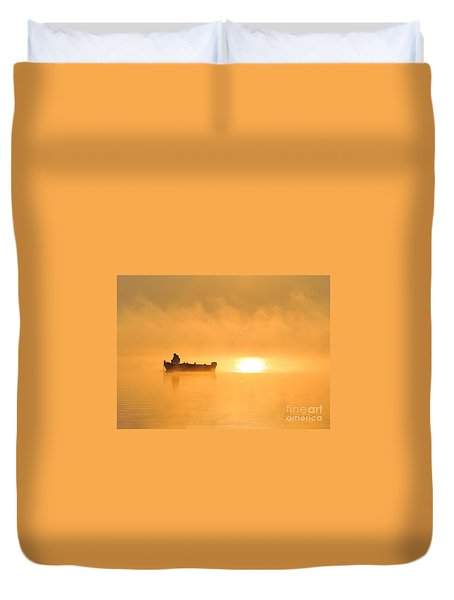 Duvet Cover featuring the photograph Gone Fishing by Terri Gostola