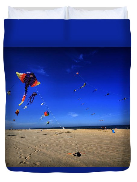 Gone Flyin Duvet Cover by Robert McCubbin