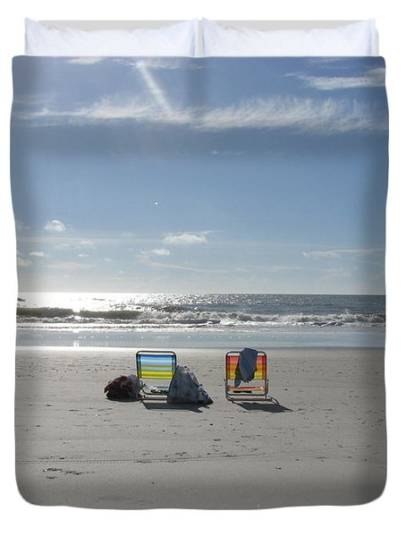 Gone For A Walk Duvet Cover by Ellen Meakin