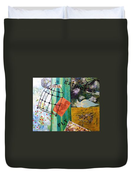 Gone Duvet Cover by Valerie Josi