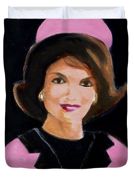 Good And Plenty Jackie O  Duvet Cover by Candace Lovely